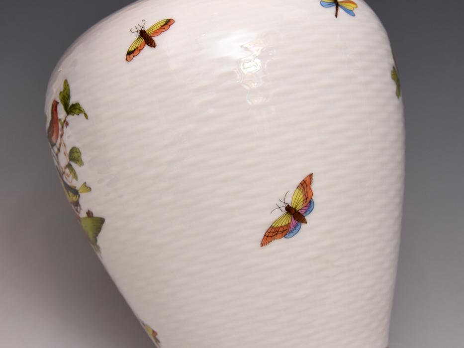 HEREND/ヘレンド ロスチャイルドバード 金彩 高さ:27㎝ 花瓶 花器 花生 花入れ フラワーベース 西洋美術 美品  b8016s_画像9