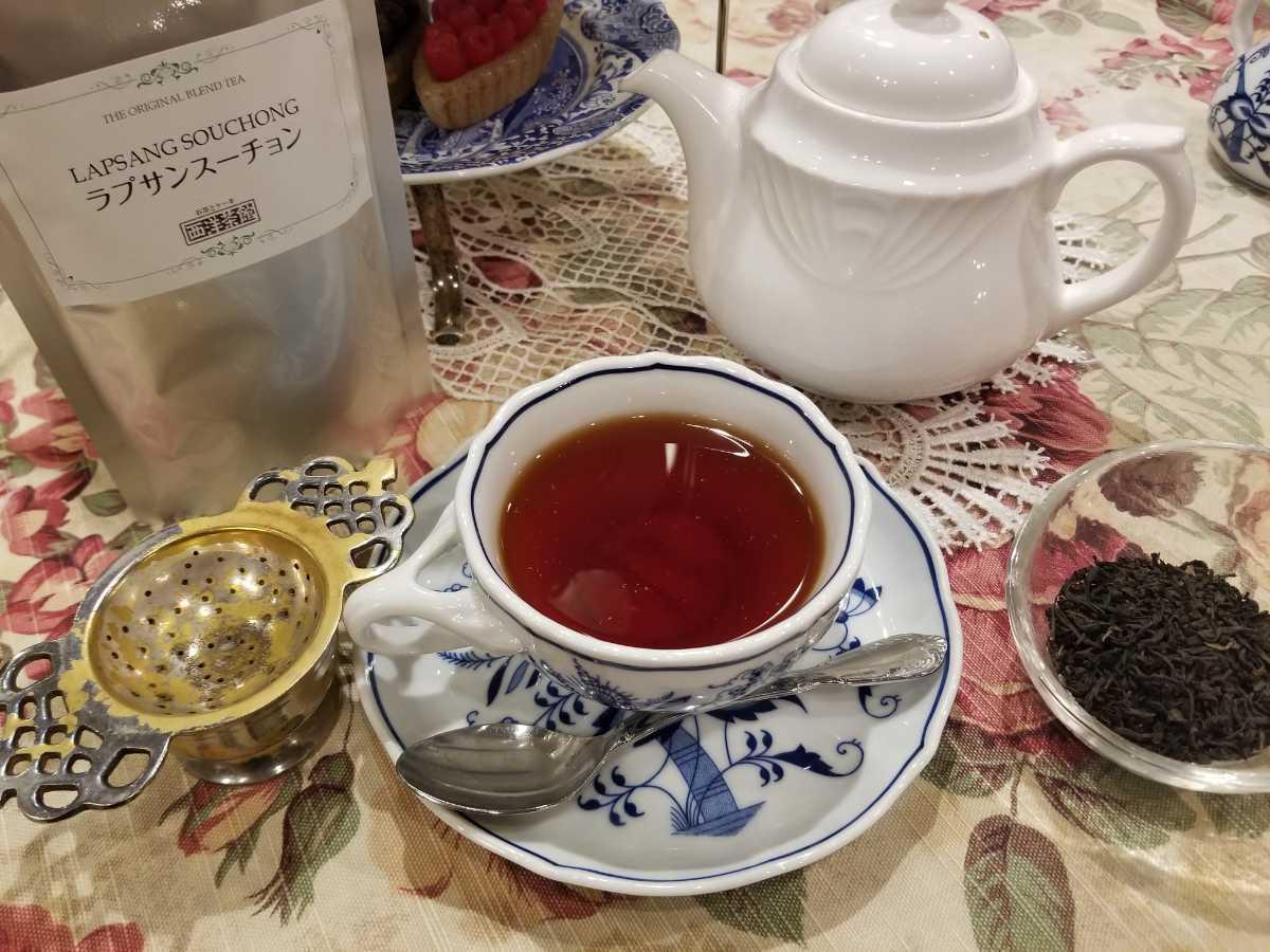 ☆新品☆西洋茶館の紅茶「ラプサン スーチョン」茶葉50g