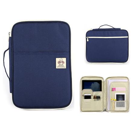 DS0093 Multifunctional A4 File Bag Portable Zipper Desk Accessories Office Supplies organizador escritorio Desk Organizer