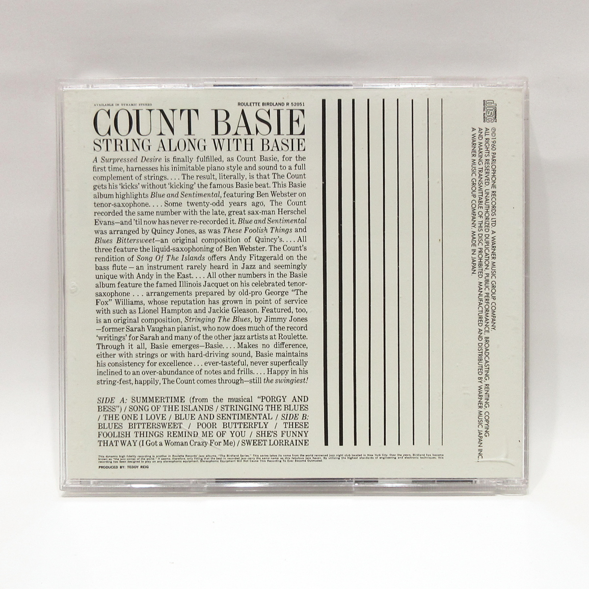 CD◆Count Basie / String Along With Basie◇カウント・ベイシー◆Roulette WPCR-16598_画像2