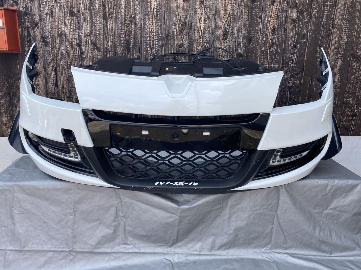 ルノー メガーヌ スポール RS 純正 フロント バンパー サポート ロアグリル デイライト カナード フォグ  セット カラー パール_画像1
