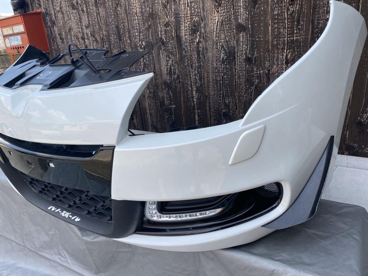 ルノー メガーヌ スポール RS 純正 フロント バンパー サポート ロアグリル デイライト カナード フォグ  セット カラー パール_画像3