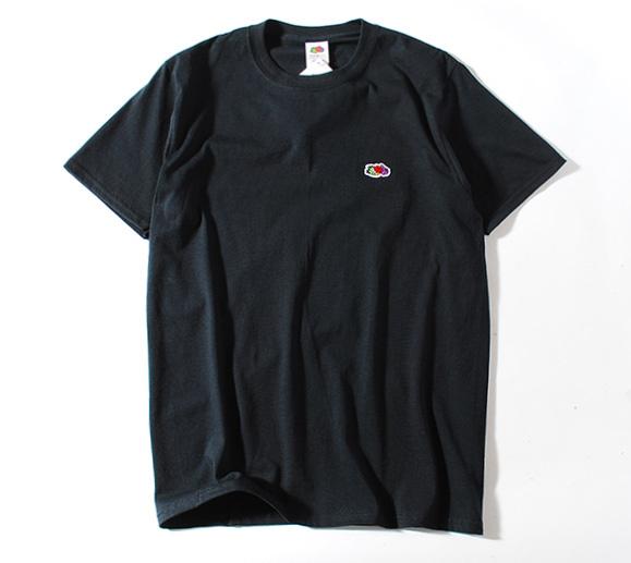 Fruit Of The Loom ロゴTシャツ 黒L フルーツオブザルーム ブランド 半袖 ホワイト ワンポイント USAコットン