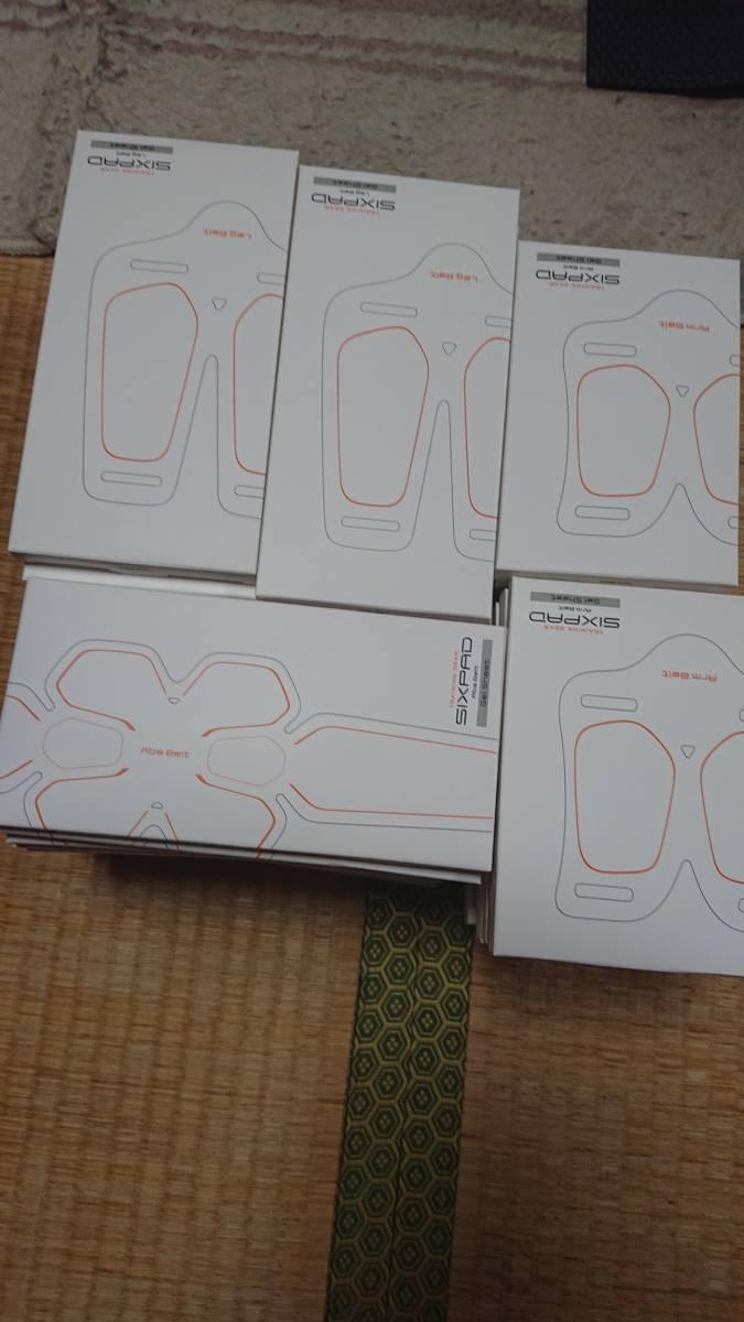 新品未開封・シックスパッド フルベルトセット 専用高電導ジェルシート5点set MGT純正品 3組送料無料