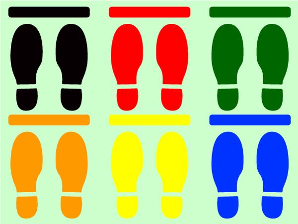 人の間隔 足型ステッカー 足型シール 3足分セット1980円送料込 レジ並びの間隔 3+*_画像5