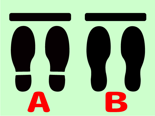 人の間隔 足型ステッカー 足型シール 順番 感染対策 3足分セット1980円送料込 3*/*_画像4