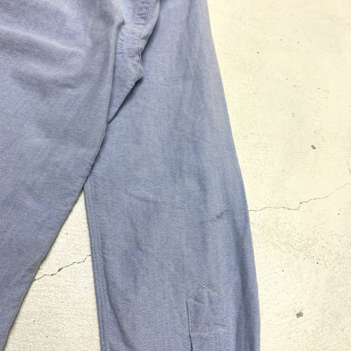 ラルフ ローレン Ralph Lauren オックスフォード シャツ Sサイズ SLIM FIT ブルー マチ付き 長袖 古着 ボタンダウン_画像5