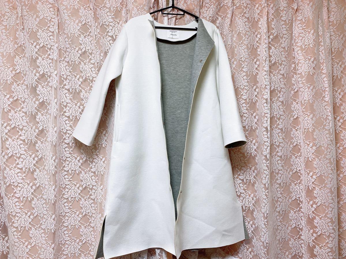 コート ノーカラー 薄手コート オルチャン ノーカラーコート 韓国ファッション