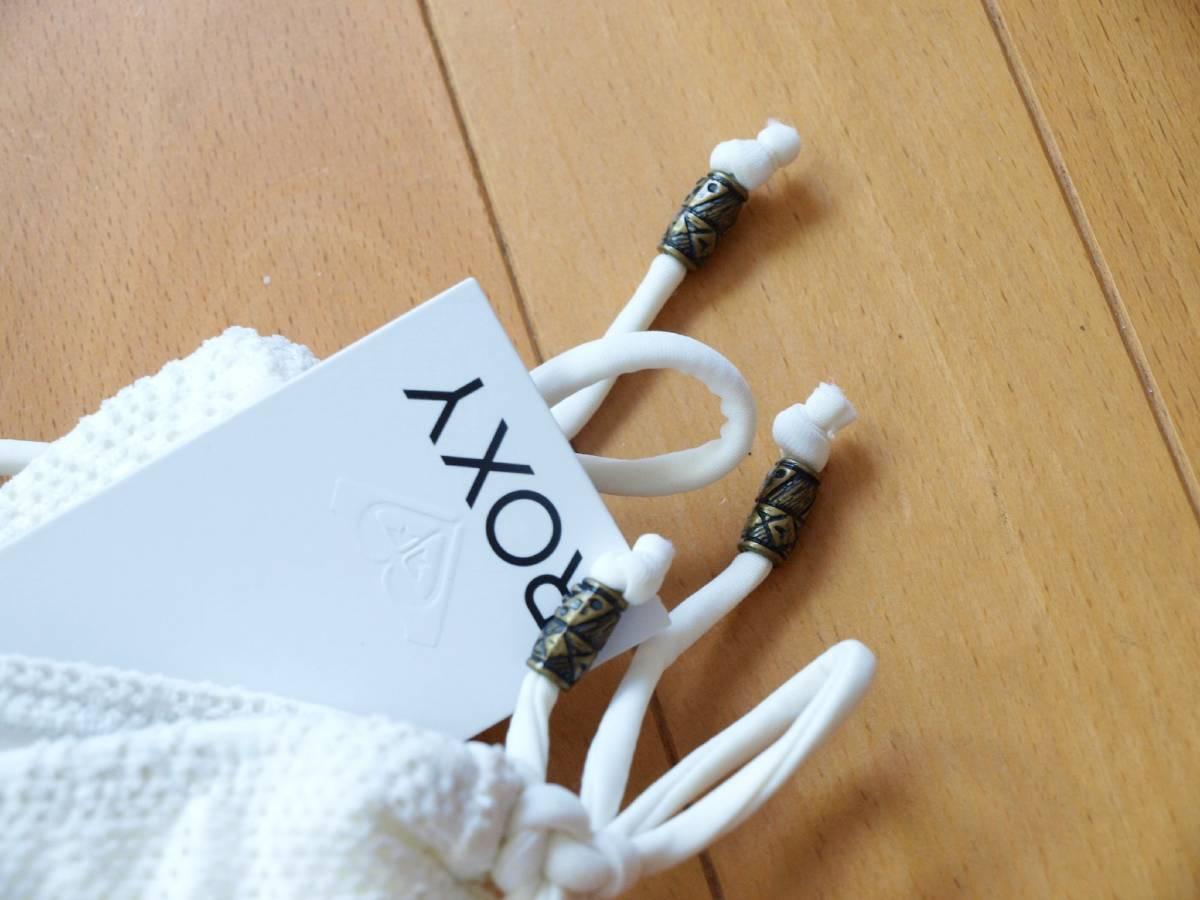 ROXY ロキシー 水着 ビキニ レース フリル サイズL 定価13,200円 ホワイト パンチングデザイン 2点セット 送料無料 セパレート _画像4