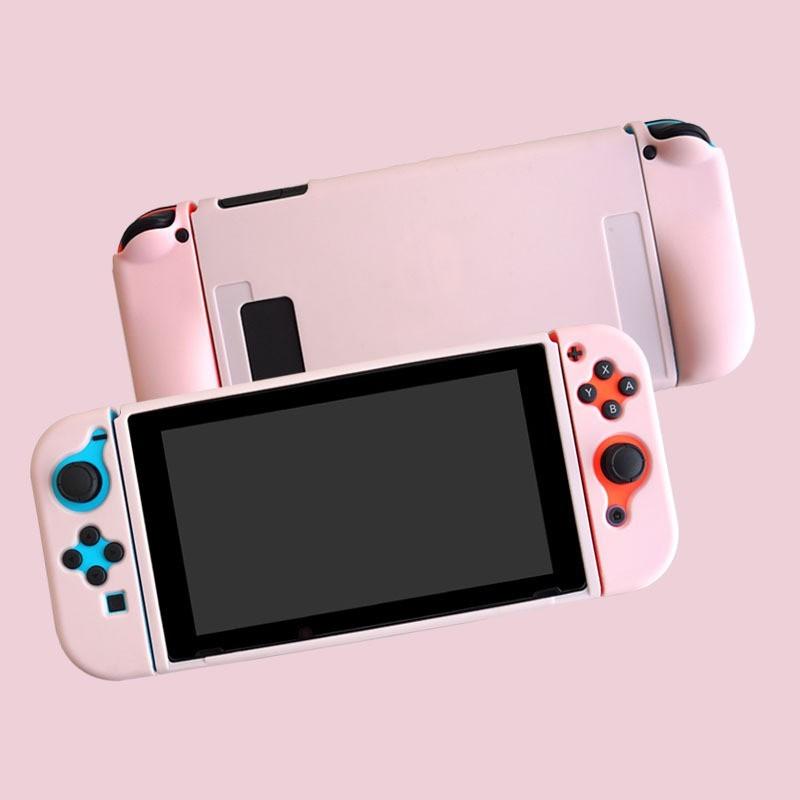 任天堂 Nintendo Switch ケース保護スキンカバー ピンク