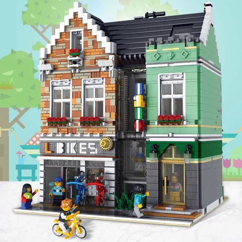 LEGO互換 自転車店 総額16000円_画像1