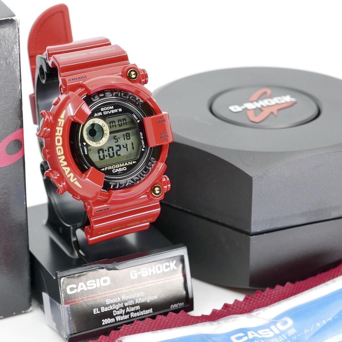 【極美品】シャイニーレッド ブラックフロッグマン DW-8200BM MIB2極美品モジュール GF-8230新品ベルベゼ カスタム DW-8201 8250シリーズ_MIB2のレッドフロッグマン仕様極美品