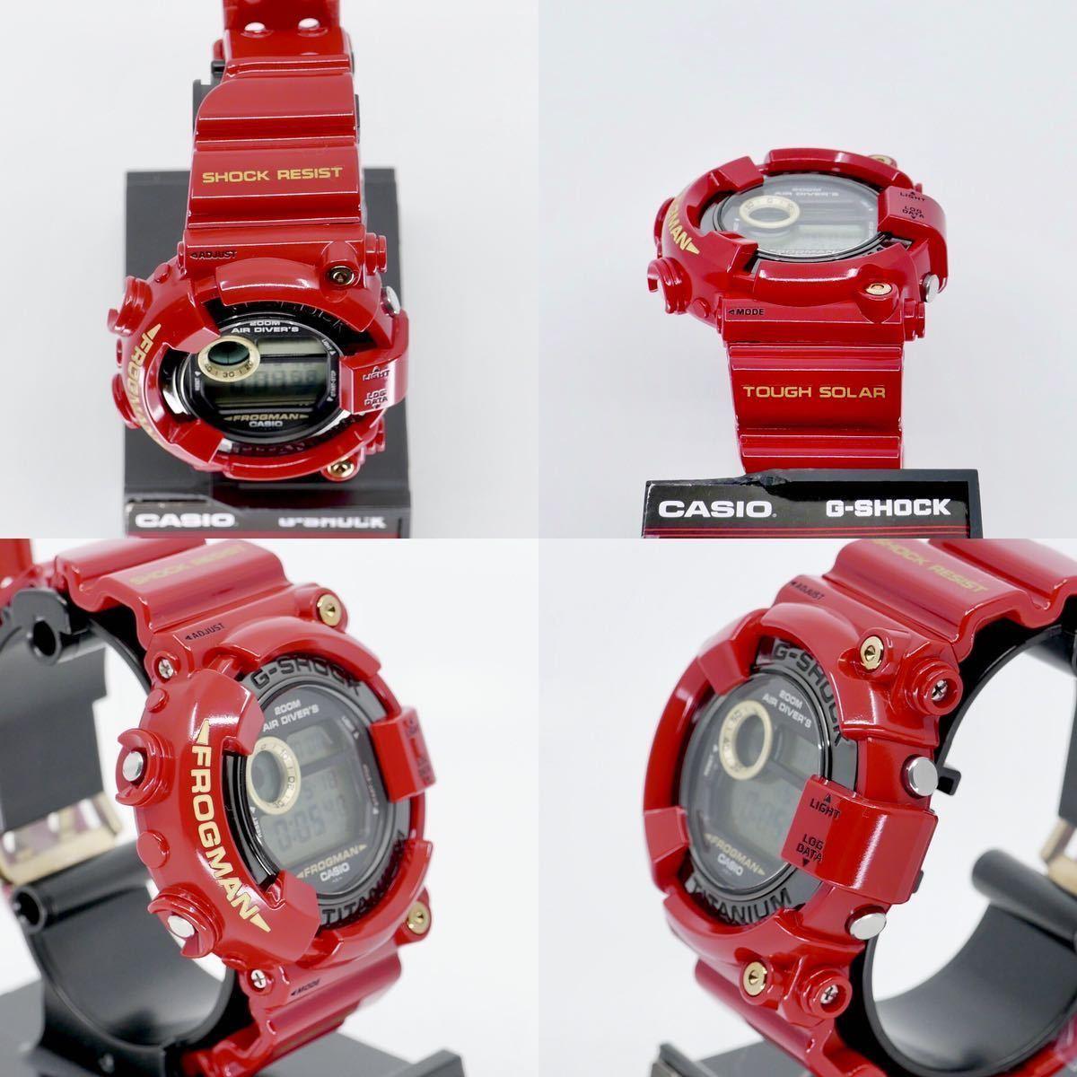 【極美品】シャイニーレッド ブラックフロッグマン DW-8200BM MIB2極美品モジュール GF-8230新品ベルベゼ カスタム DW-8201 8250シリーズ_様々な角度から状態を確認下さい