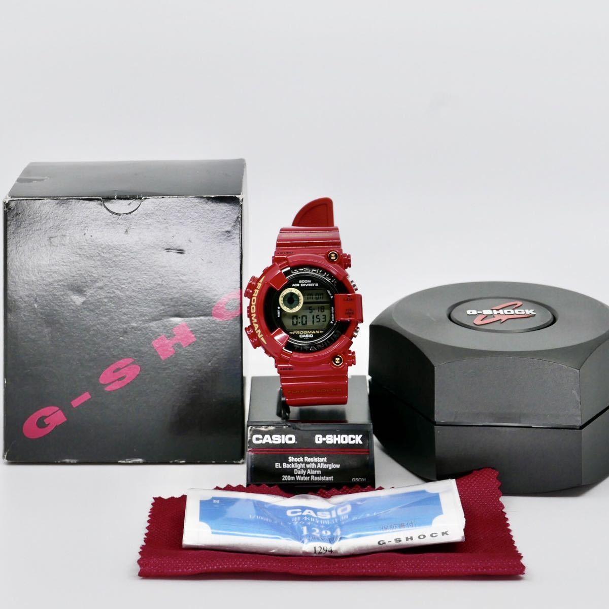 【極美品】シャイニーレッド ブラックフロッグマン DW-8200BM MIB2極美品モジュール GF-8230新品ベルベゼ カスタム DW-8201 8250シリーズ_出品物一式(スタンドは付属しません)