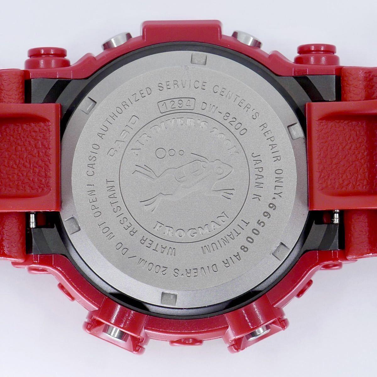 【極美品】シャイニーレッド ブラックフロッグマン DW-8200BM MIB2極美品モジュール GF-8230新品ベルベゼ カスタム DW-8201 8250シリーズ_保管、作業に伴う僅かな傷、スレ有ります