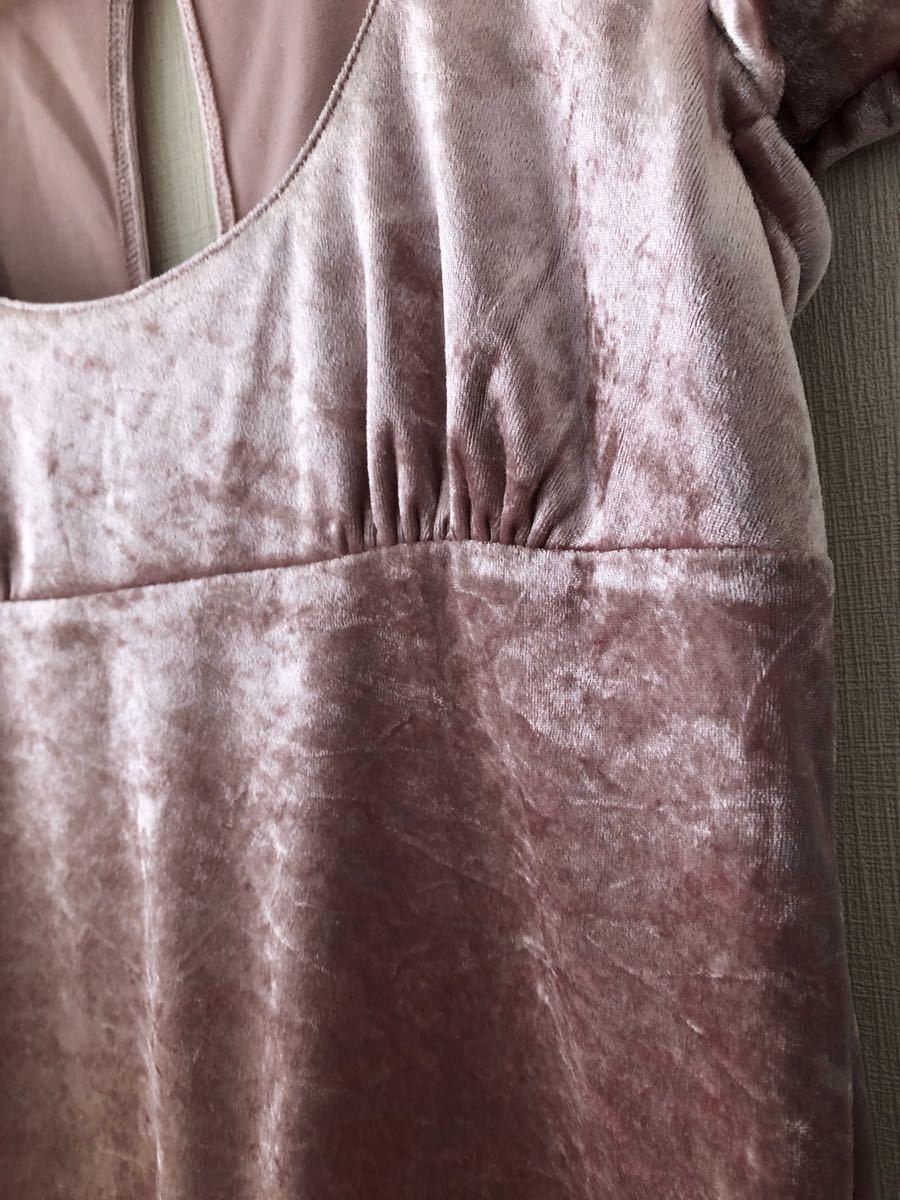 ドルマン型半袖 レディース トップス やや厚手可愛いカットソー ピンク