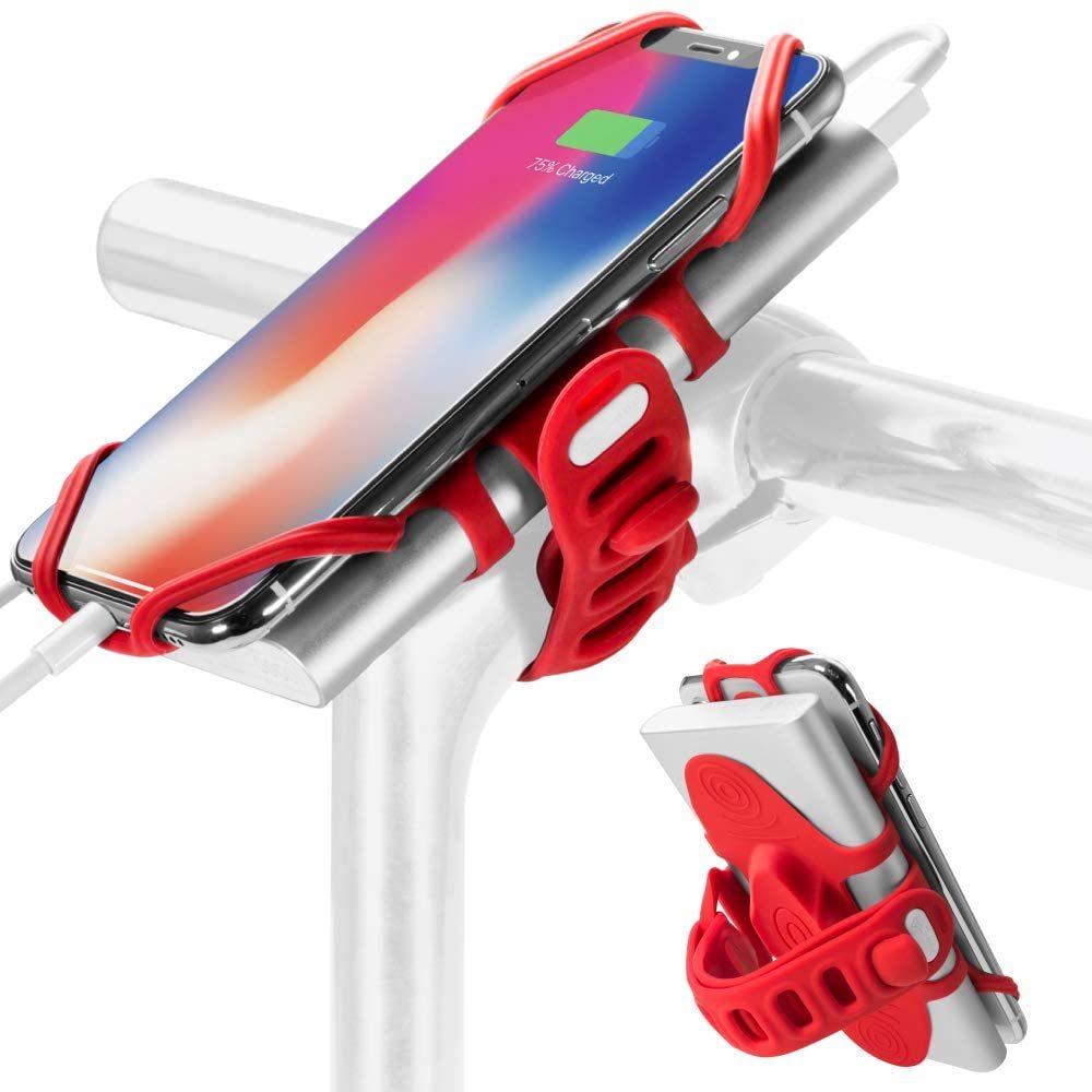 Bone Collection 充電しながら使える 自転車 スマホ ホルダー シリコン製 バイク ステム用 4-6.5インチのスマホに対応 iPhone _画像10