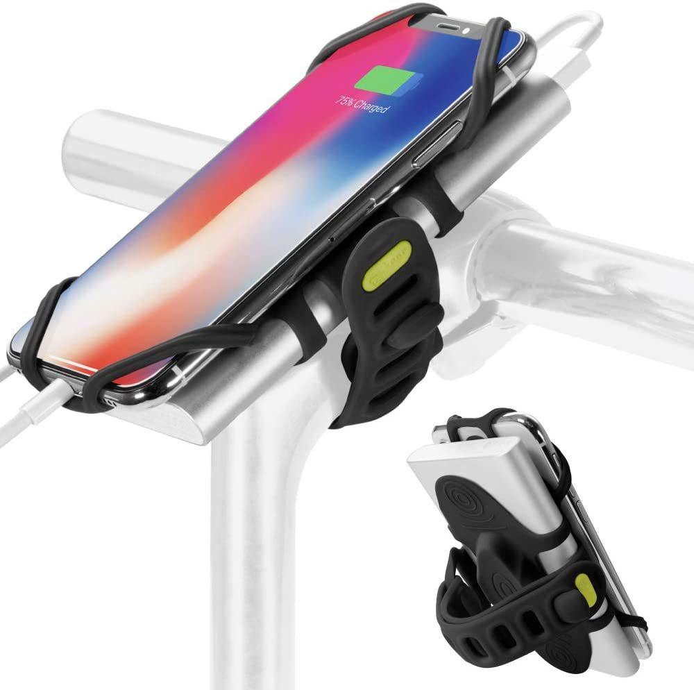 Bone Collection 充電しながら使える 自転車 スマホ ホルダー シリコン製 バイク ステム用 4-6.5インチのスマホに対応 iPhone _画像1