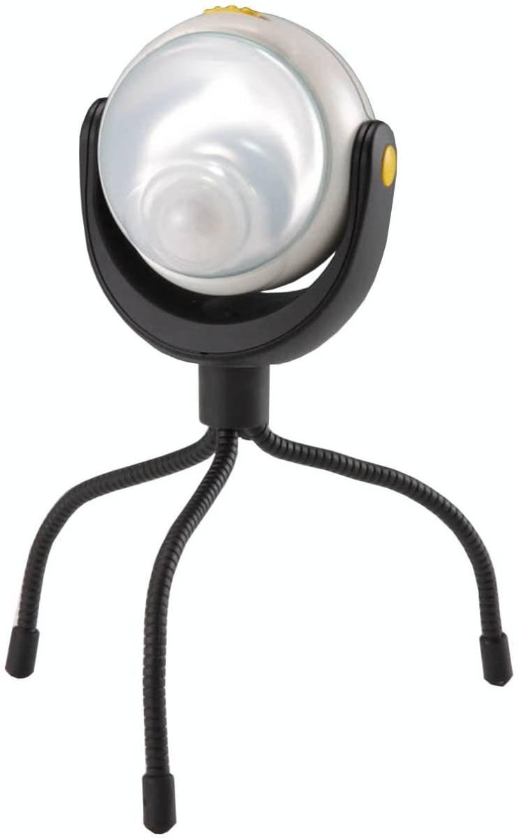 【オススメ】ムサシ RITEX 「自由に曲がる三脚で様々な場所に取付可能! 」 LEDどこでもセンサーライト ASL-090_画像1