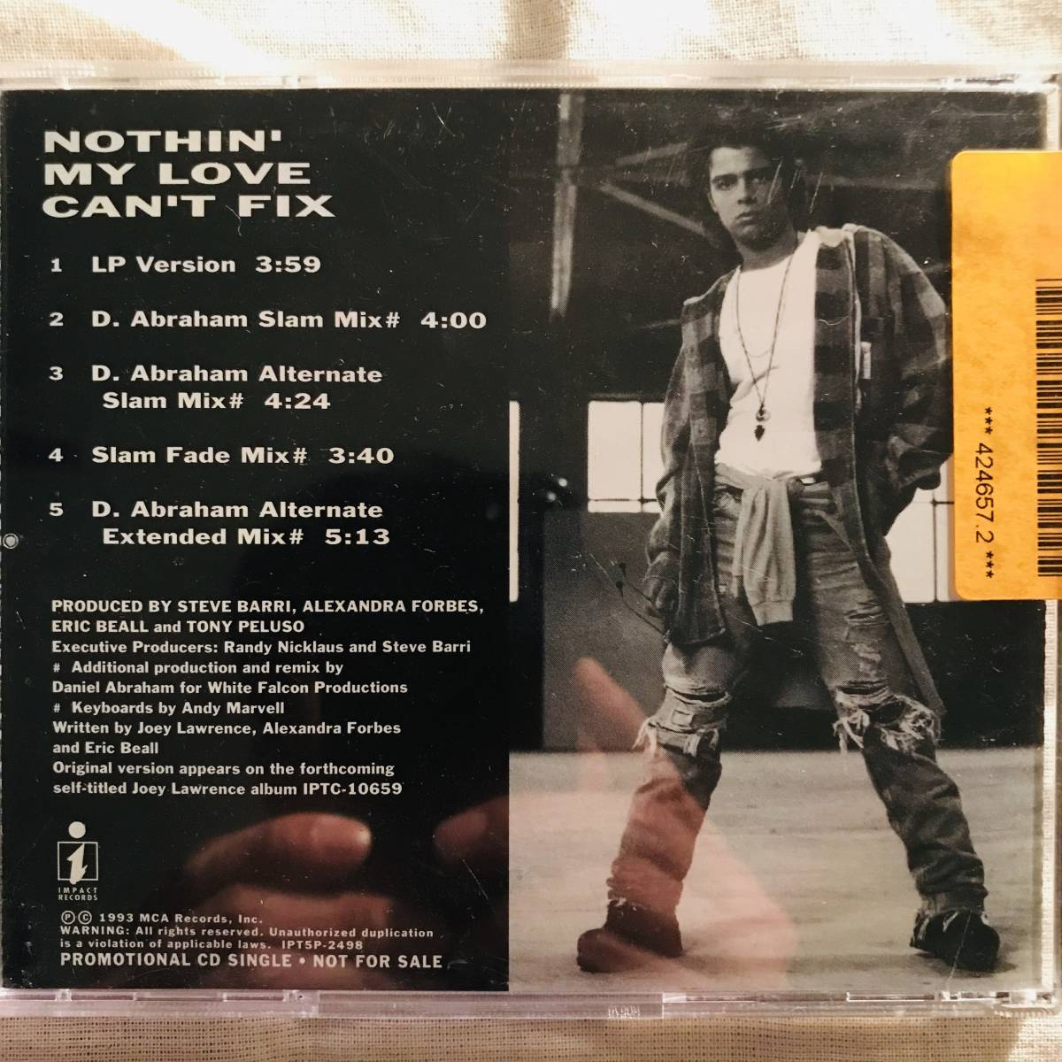 【CD Single】Joey Lawrence/Nothin' My Love Can't Fix US Promo盤