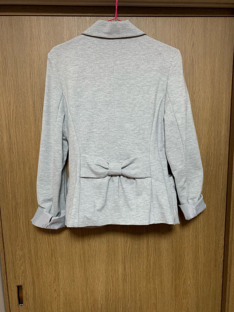 シンプル グレー テーラードジャケット