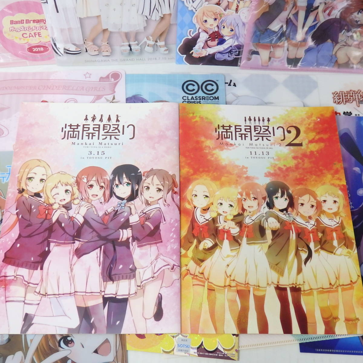 200a607★美少女 クリアファイル パンフレット 等 まとめ売り セット★IDOLM@STER バンドリ 結城友奈は勇者である 等 ☆中古品☆_画像7