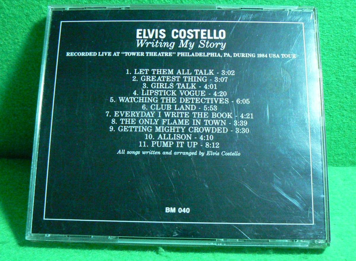 ★CD★エルビス・コステロ★Elvis Costello★Writing My Story★live at Tower Theatre Philadelphia, PA, during 1984 USA tour.★