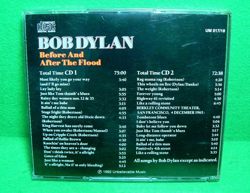 ★CD★ボブ・ディラン★BOB DYLAN & THE BAND★Before And After The Flood★1974★2枚組★