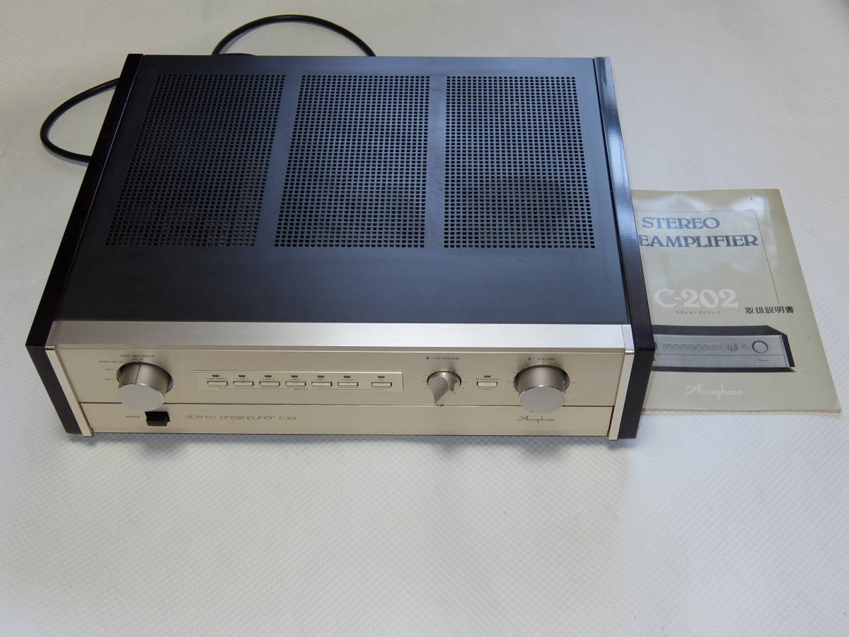 ♪♪Accuphase アキュフェーズ C-202 CD/ライン入力 ステレオプリアンプ♪♪