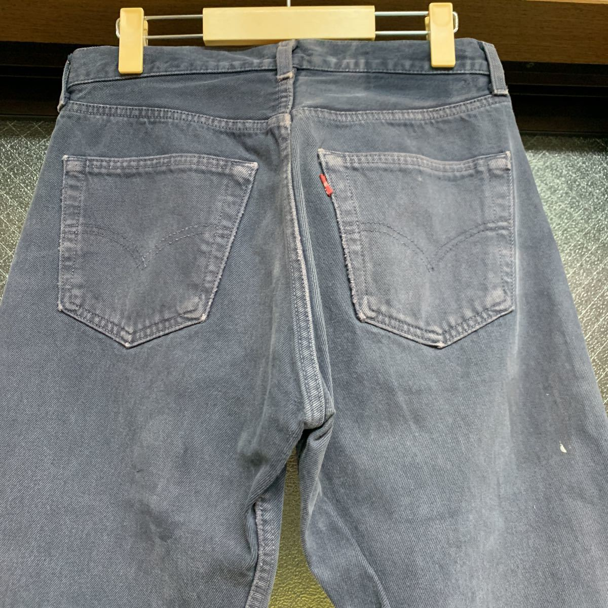 リーバイス アメリカ製 501 MADE IN USA ジーンズ デニム カラー w31インチ メンズ パンツ Levis パープル 紫_画像2