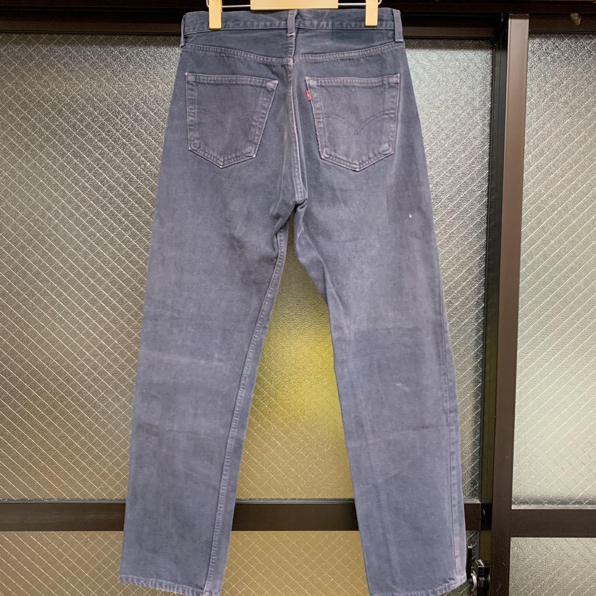 リーバイス アメリカ製 501 MADE IN USA ジーンズ デニム カラー w31インチ メンズ パンツ Levis パープル 紫_画像1