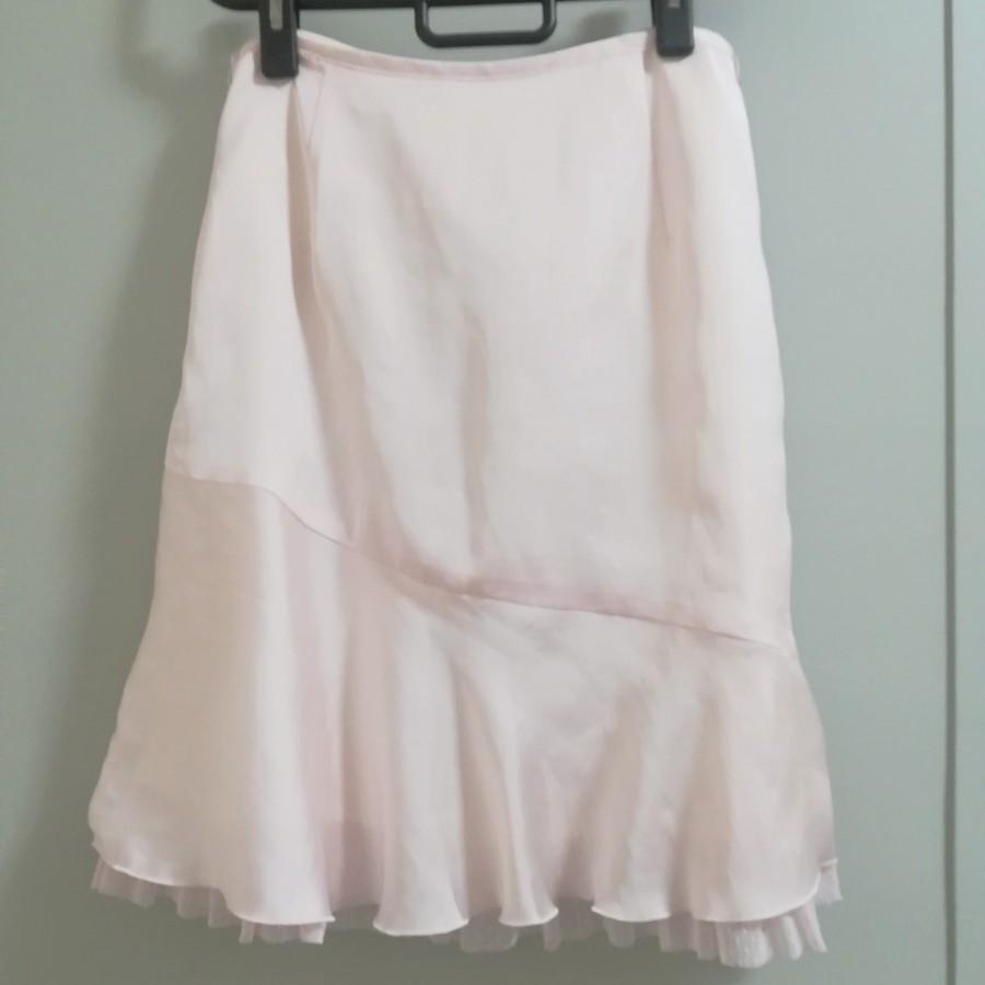 フレアスカート サテン ピンク ミニスカート タイトスカート 韓国 OL 春