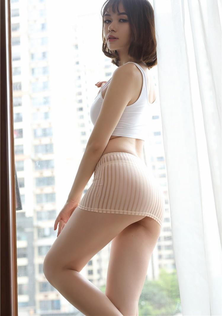 y8018 セクシー スケスケ ミニ・スカート スカート 師コスチューム 極薄 ワンピース ピンク 匿名配送可_画像1