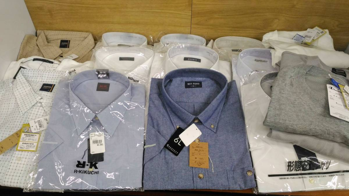 〔MY19〕メンズ 大きいサイズ 大量おまとめセット 4L/5L/6L ワイシャツ・タンクトップ・半袖 中古品 120サイズ