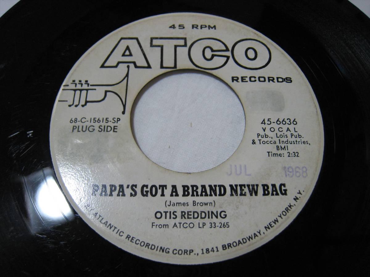 "【7""】 OTIS REDDING / ●白プロモ MONO● PAPA'S GOT A BRAND NEW BAG US盤 オーティス・レディング パパのニュー・バッグ_画像1"