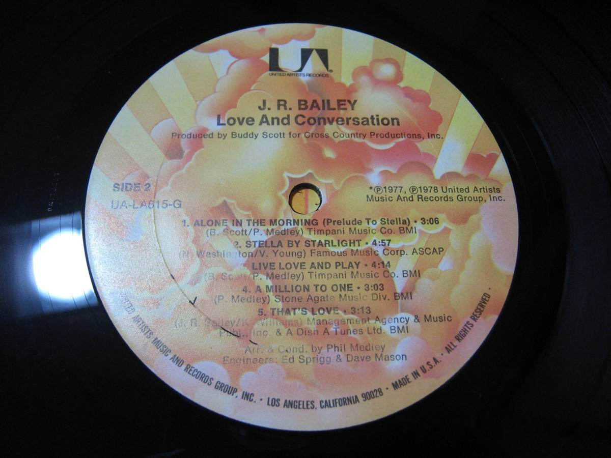 【LP】 J.R. BAILEY / LOVE & CONVERSATION US盤 J.R.ベイリー THAT'S LOVE 収録_画像9