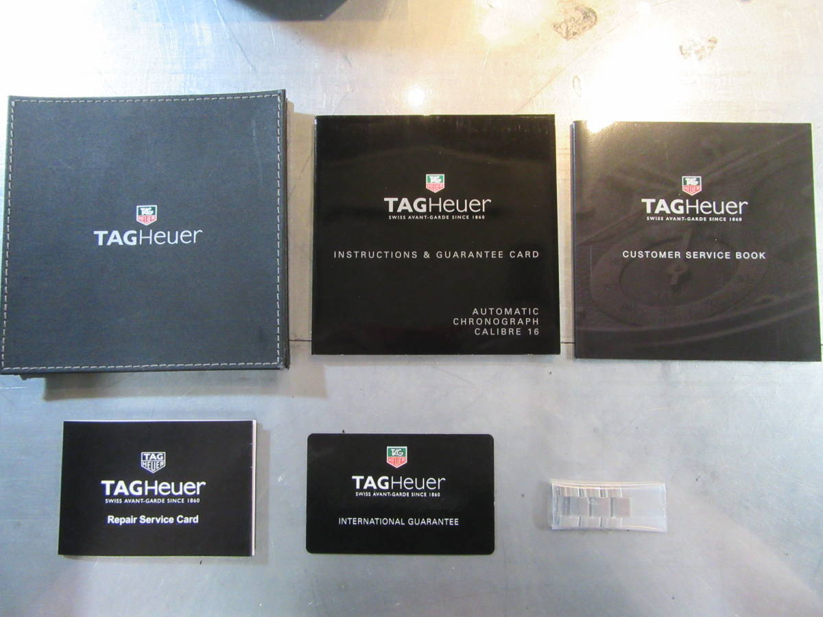 TAG HEUER タグホイヤー クロノグラフ デイデイト CAF2012.BA0815 青文字盤 自動巻き BOX、保証書、取説 ニューアクアレーサー_画像8