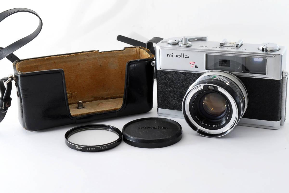 【即決 現状品】Minolta Hi-matic 7s Film Camera w/45mm f1.8 Lens #1102 ミノルタ 36@wi_画像1