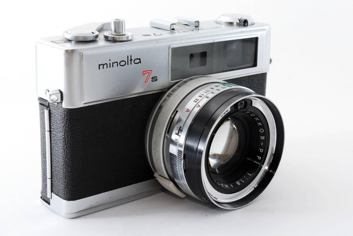 【即決 現状品】Minolta Hi-matic 7s Film Camera w/45mm f1.8 Lens #1102 ミノルタ 36@wi_画像4