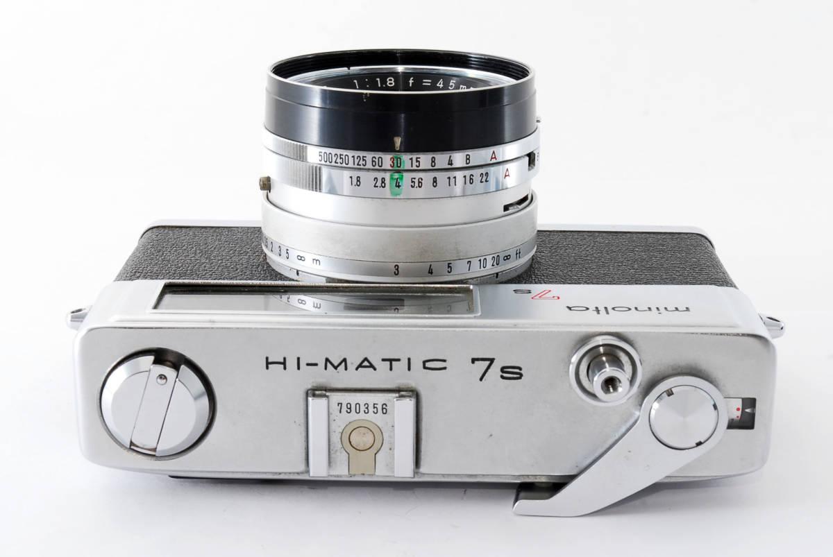 【即決 現状品】Minolta Hi-matic 7s Film Camera w/45mm f1.8 Lens #1102 ミノルタ 36@wi_画像5