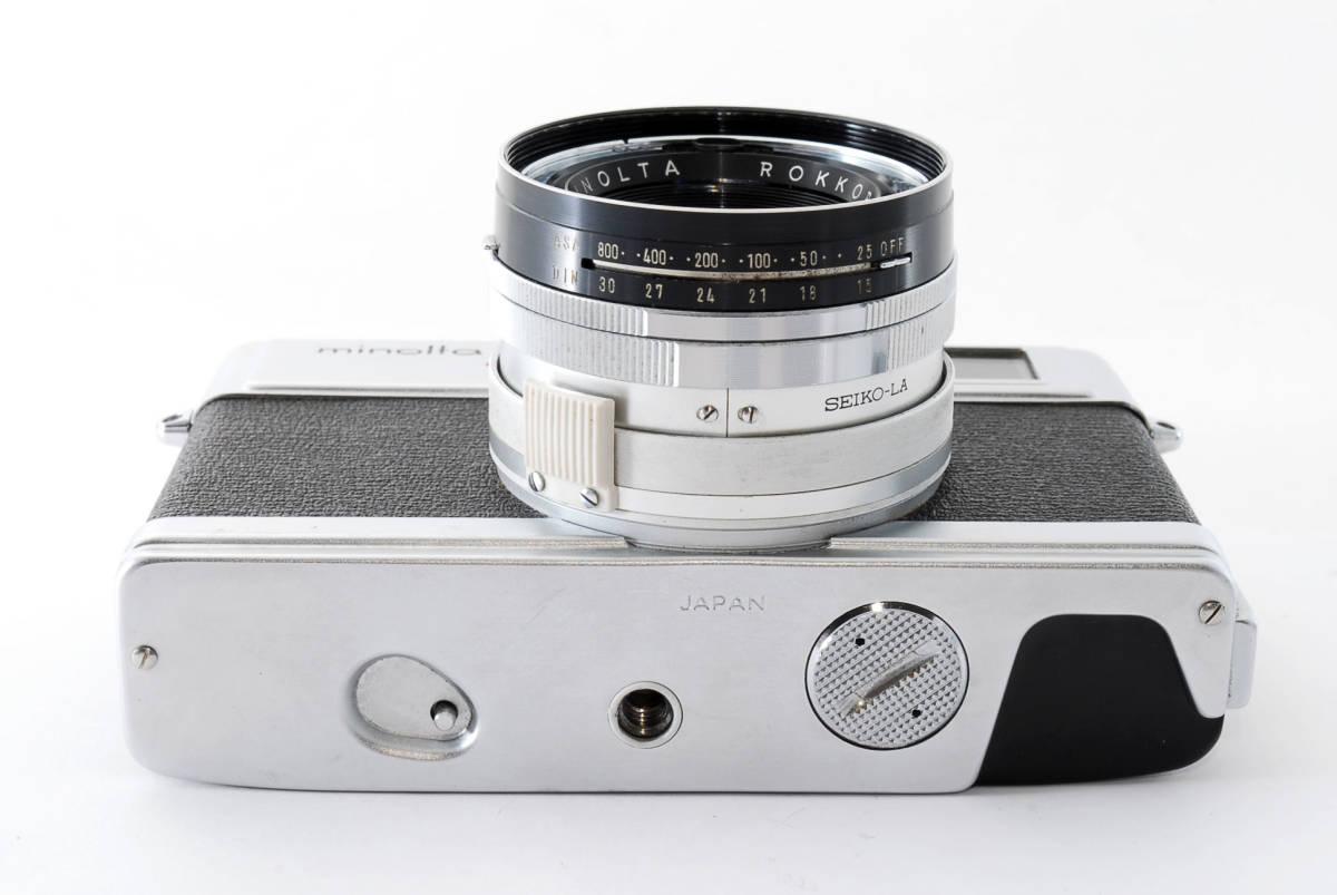 【即決 現状品】Minolta Hi-matic 7s Film Camera w/45mm f1.8 Lens #1102 ミノルタ 36@wi_画像10