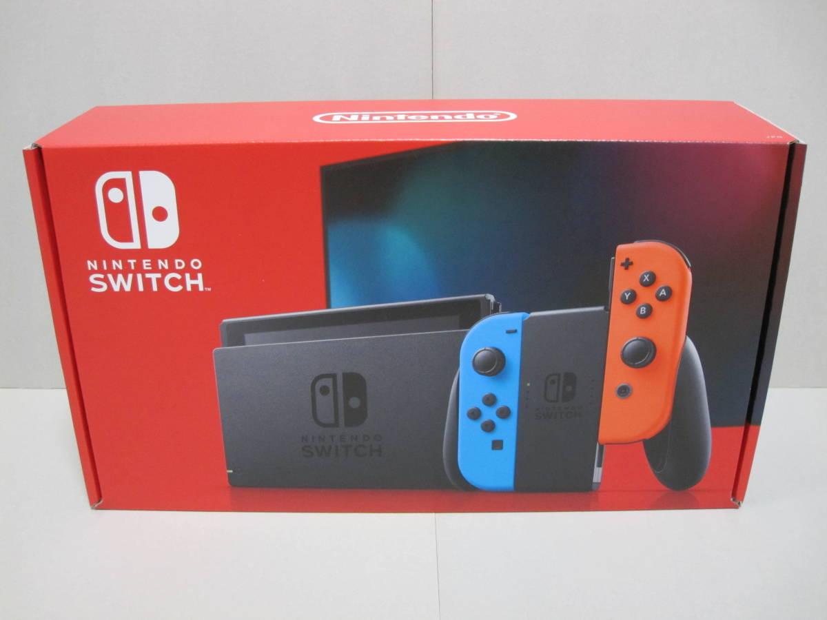 【新品同様】任天堂(ニンテンドー) スイッチ 本体 Joy-Con (L) ネオンブルー / (R) ネオンレッド (Nintendo Switch) _画像1