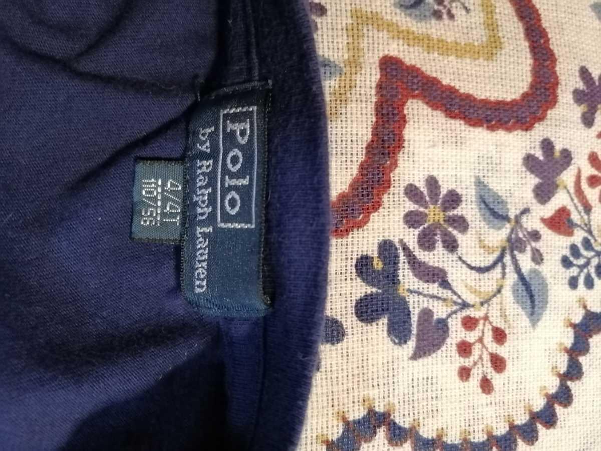 RALPH LAUREN ポロ ラルフローレン 半袖Tシャツ 子供服  110/56 4/4T 紺色_画像6