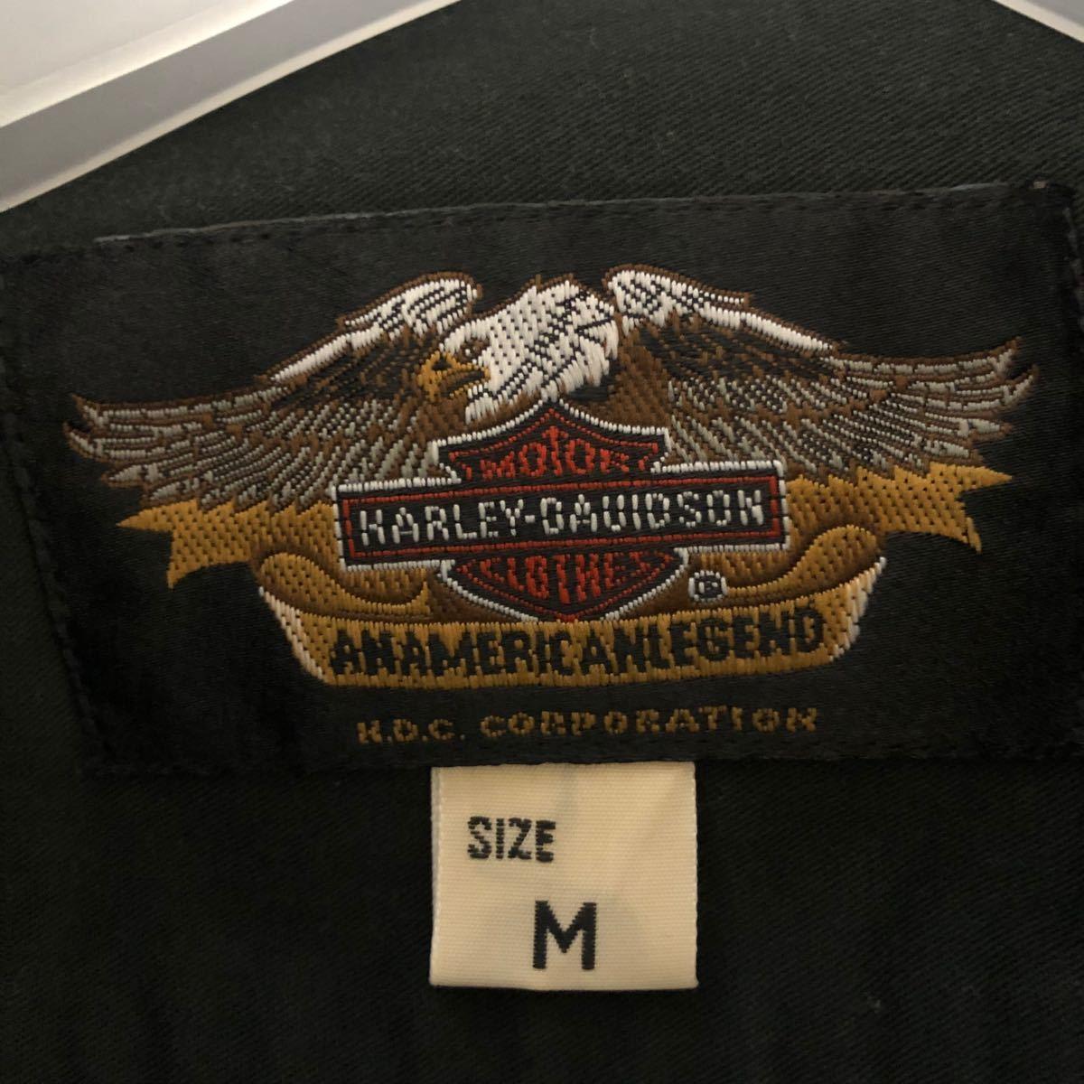 早い者勝ち!!ハーレーダビッドソン ワーク シャツ 半袖 ビッグロゴ