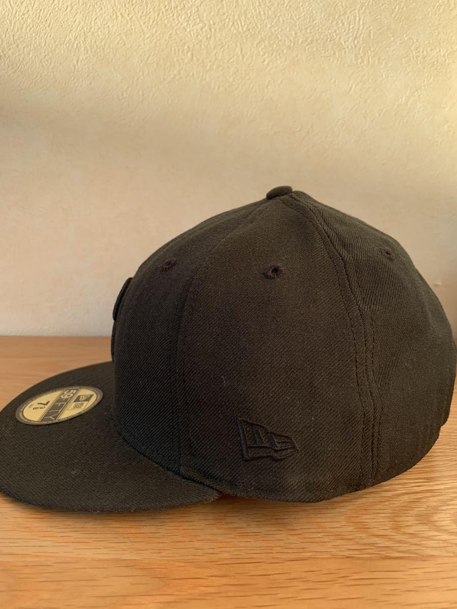 横浜ベイスターズ NEW ERA ニューエラ キャップ帽子 DeNA 7 3/8 ブラック 黒_画像2