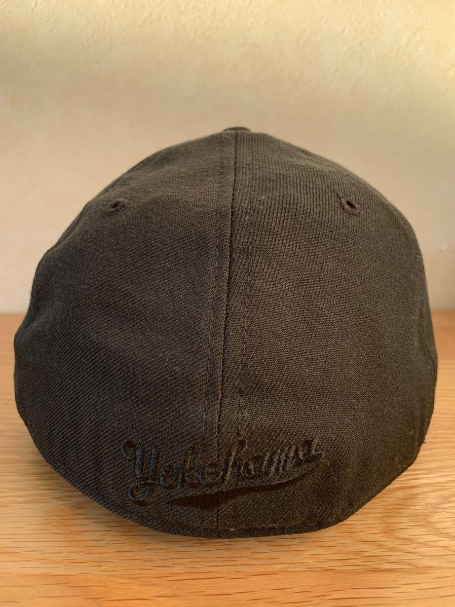 横浜ベイスターズ NEW ERA ニューエラ キャップ帽子 DeNA 7 3/8 ブラック 黒_画像3
