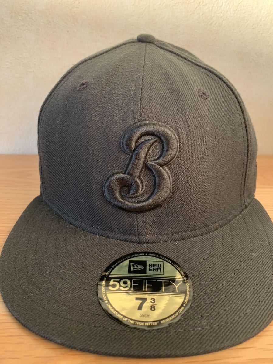 横浜ベイスターズ NEW ERA ニューエラ キャップ帽子 DeNA 7 3/8 ブラック 黒_画像1