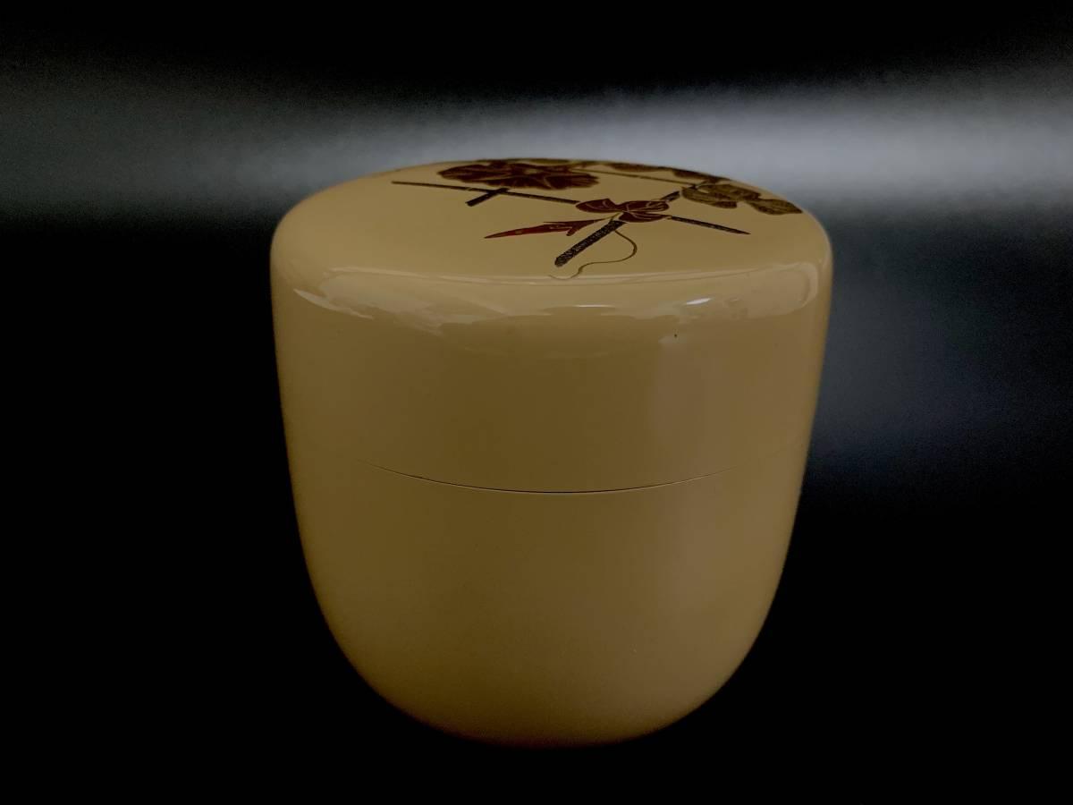 ◆坪井英憲(夕帆)作◆朝顔蒔絵 大棗 輪島塗 茶器 茶道具 共箱付き 伝統工芸品_画像4