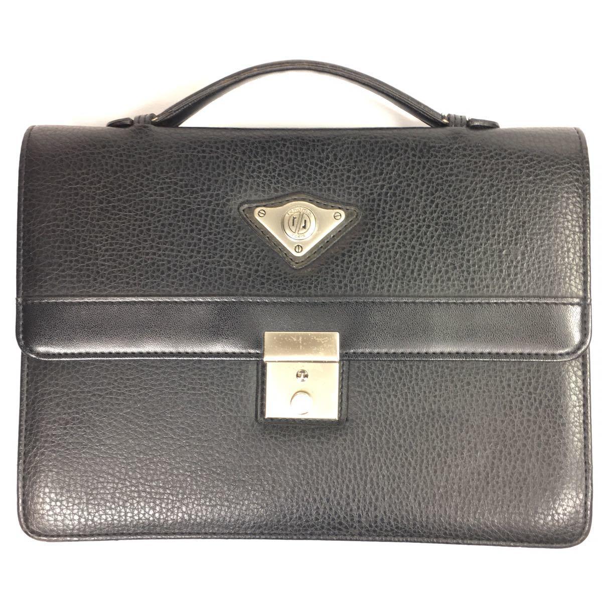 【レノマ】本物 renoma セカンドバッグ 黒 ミニビジネスバッグ 持ち手有り 男性用 メンズ_画像1