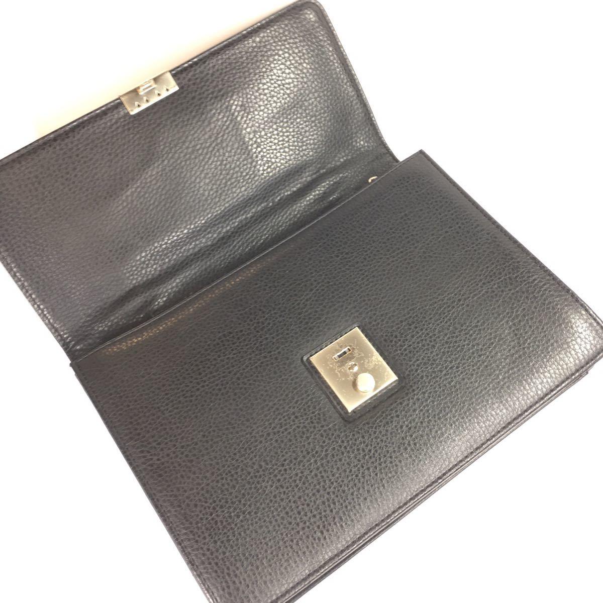 【レノマ】本物 renoma セカンドバッグ 黒 ミニビジネスバッグ 持ち手有り 男性用 メンズ_画像5